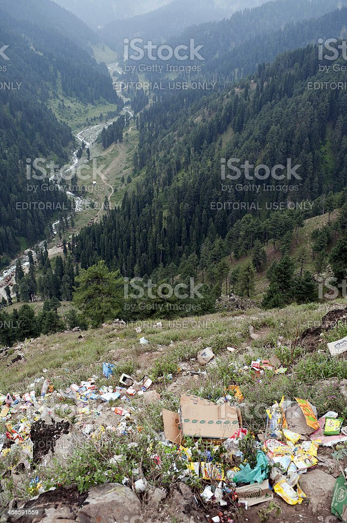 Pollution in Kashmir India stock photo