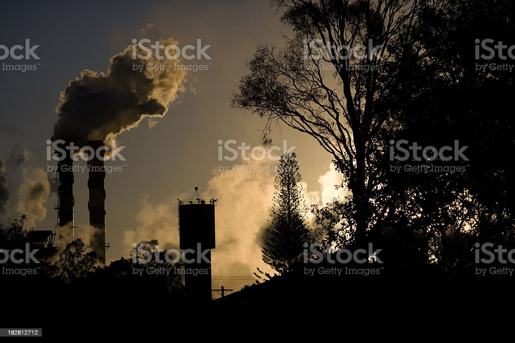 Pollution In Paradise stock photo