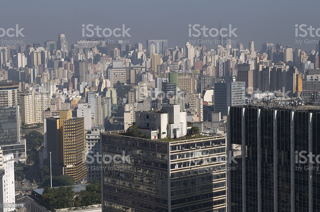 Pollution in Sao Paulo royalty-free stock photo