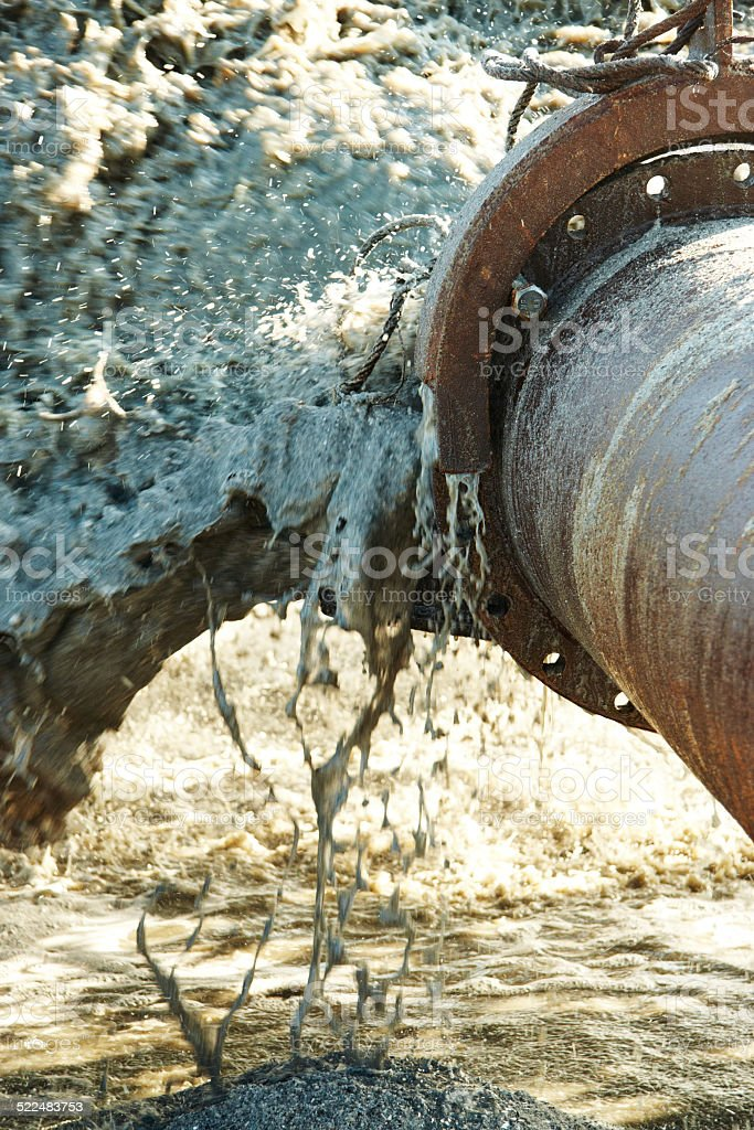 Pollution in the pipelines stock photo