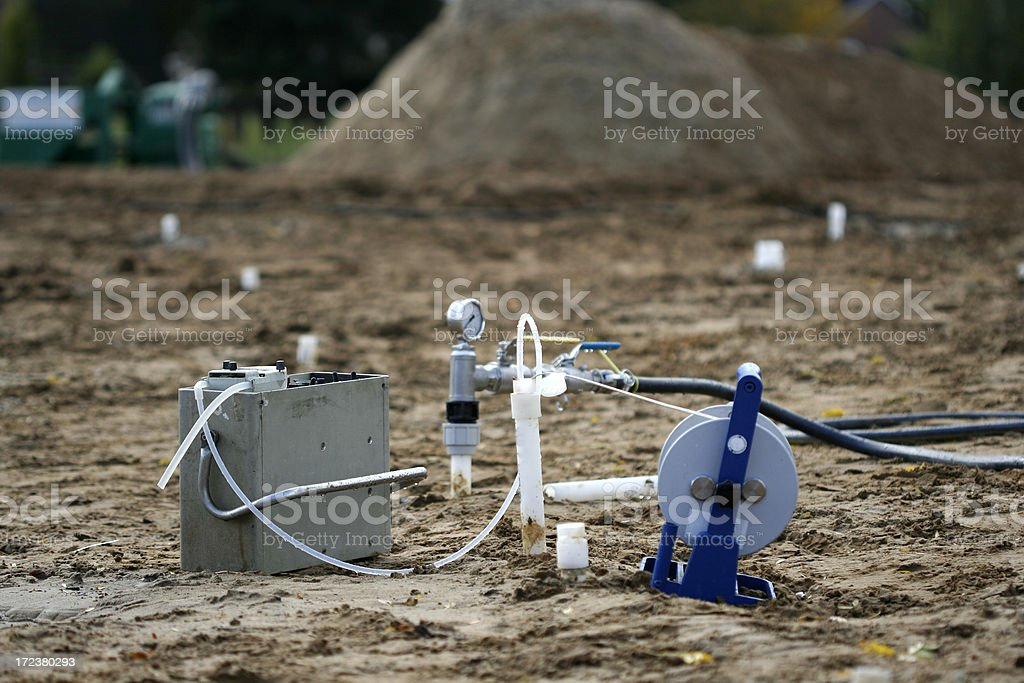 Pollution in the soil stock photo