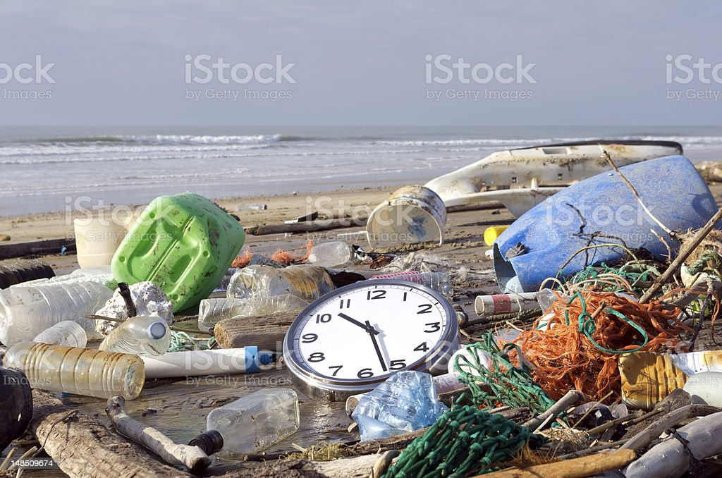 Pollution: it's time to wake up! royalty-free stock photo