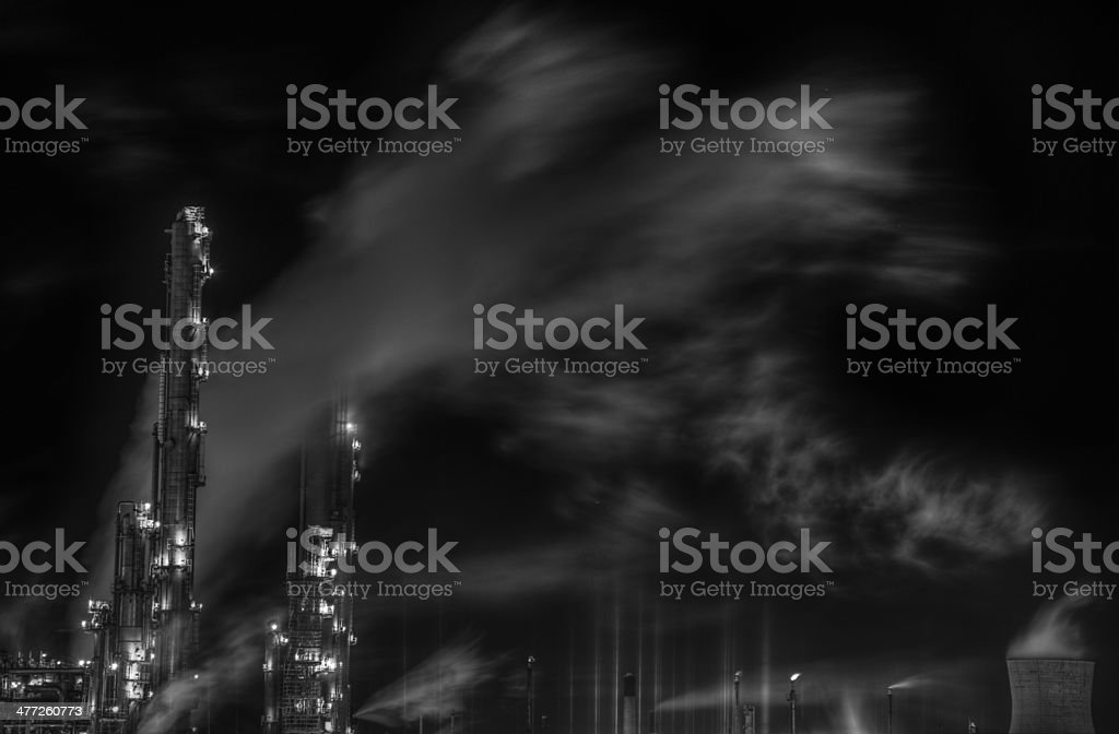 Pollution (The ghost in the machinery) royalty-free stock photo