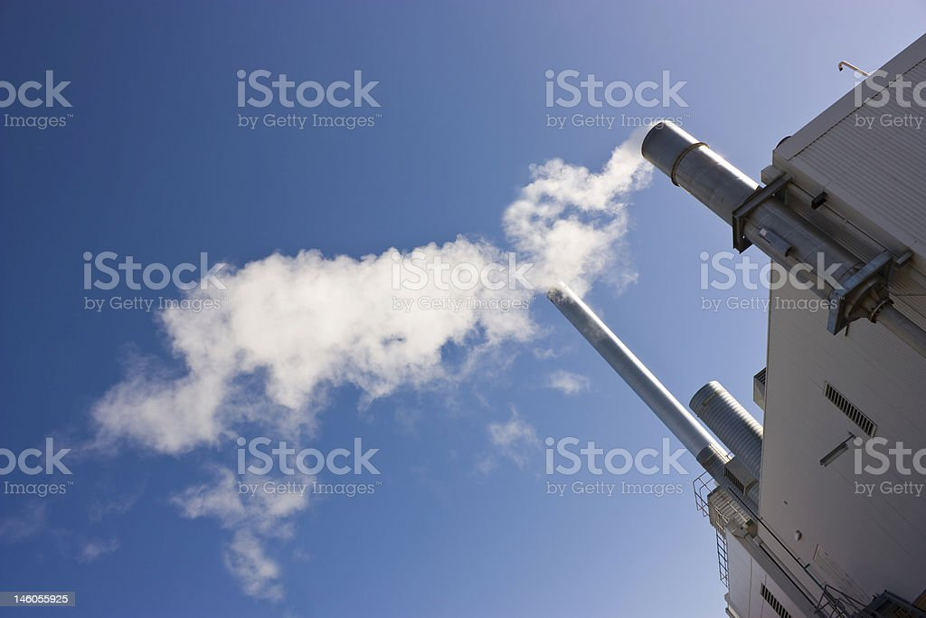 Pollution Pipes royalty-free stock photo