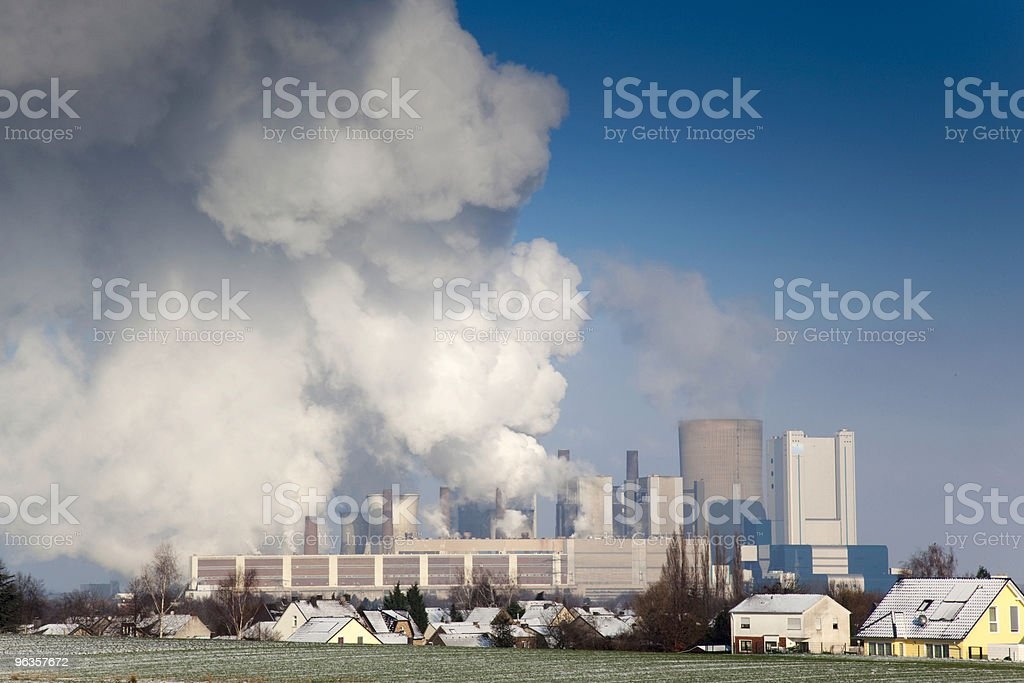 Pollution power plant royalty-free stock photo