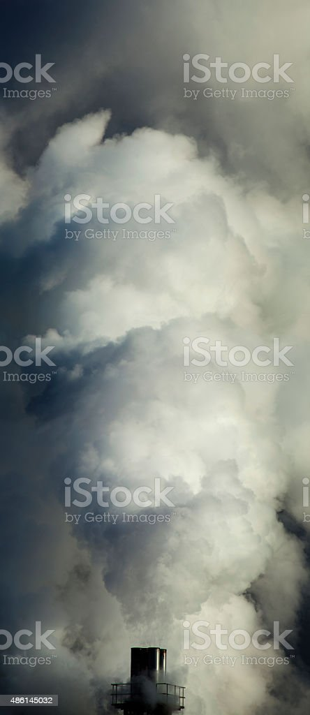 Inquinamento fumo da il comignolo foto stock royalty-free