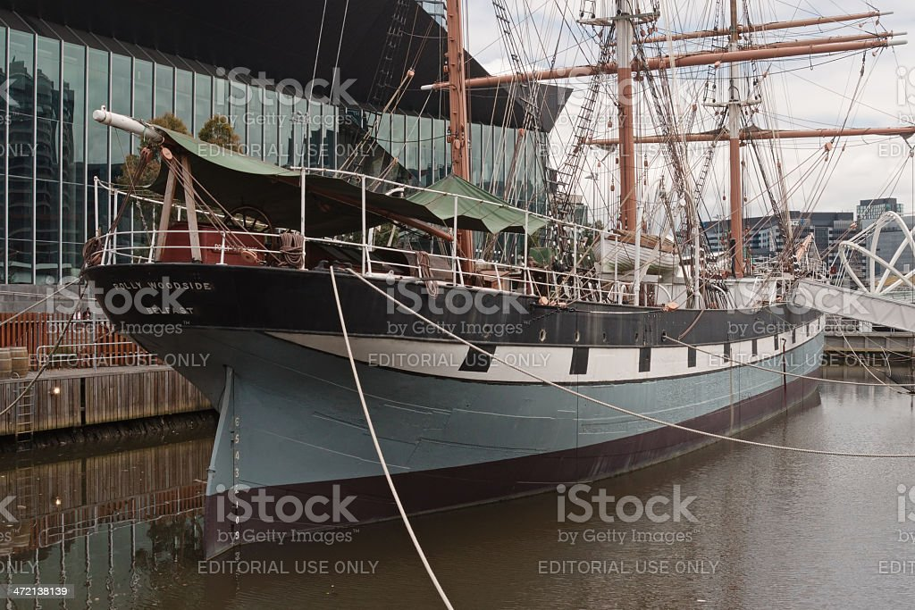 Polly Woodside ship stock photo