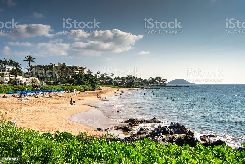 Polo Beach, south shore of Maui, Hawaii stock photo