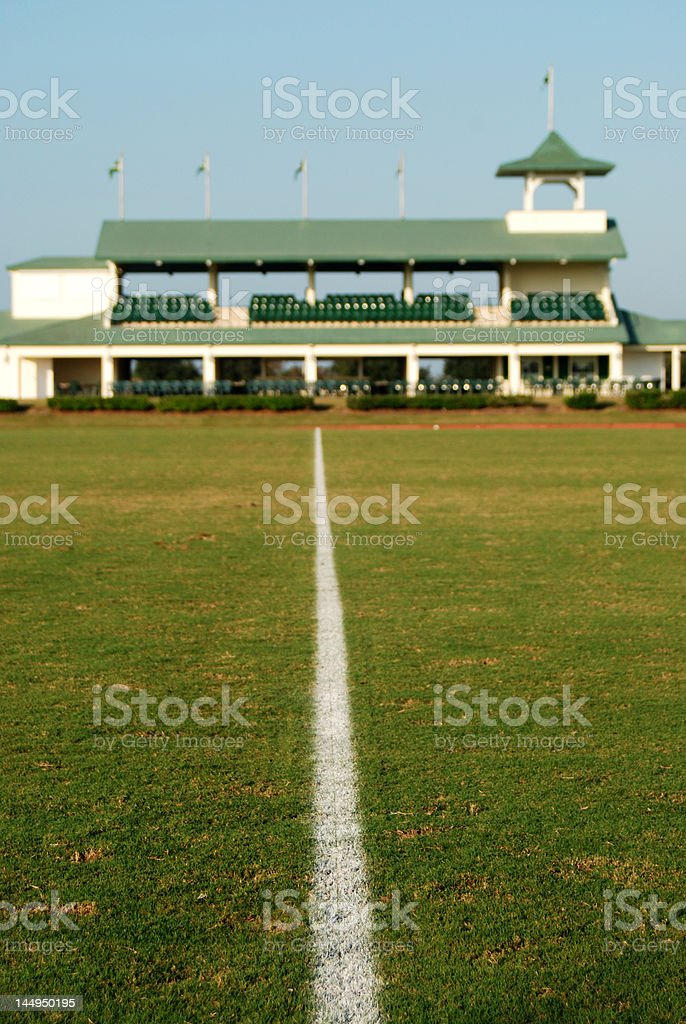 Polo Field with Stands stock photo