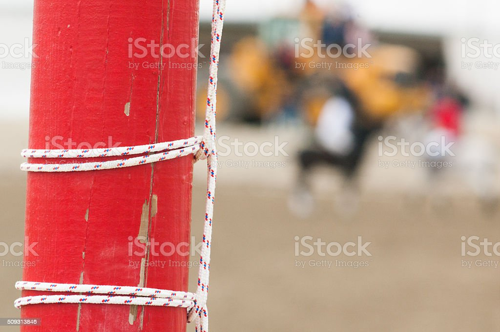 Polo game in the beach stock photo