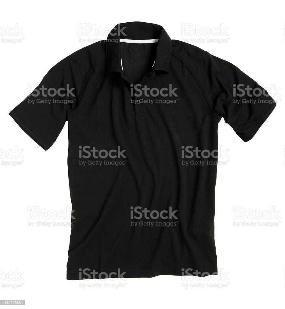 polo shirt black royalty-free stock photo