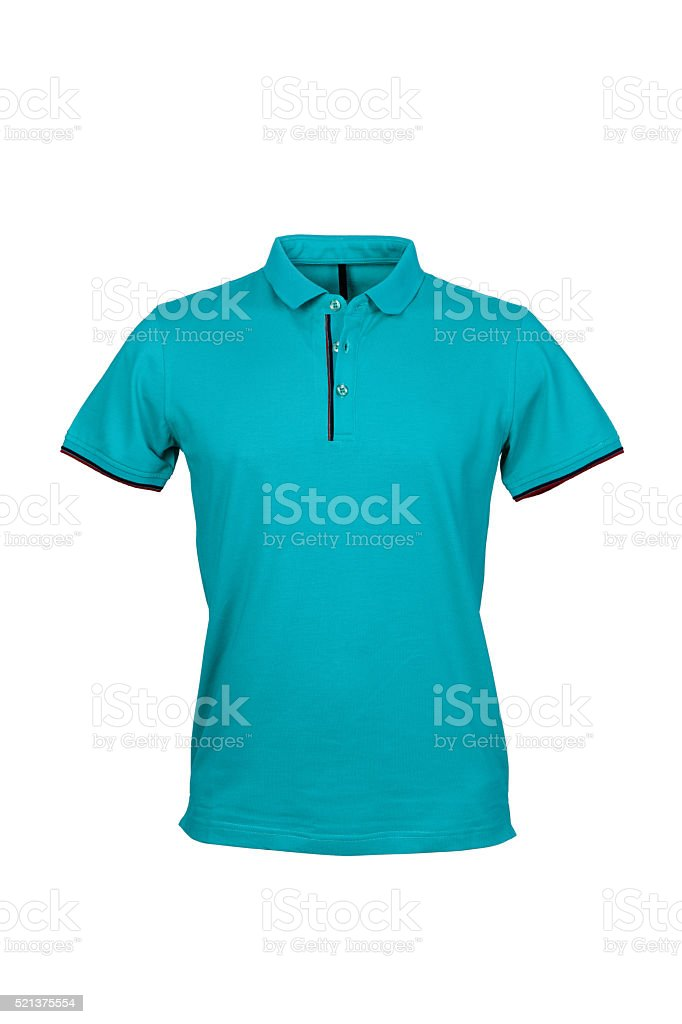 Polo shirt for men 50mpx (white background, isolated, color changed) stock photo