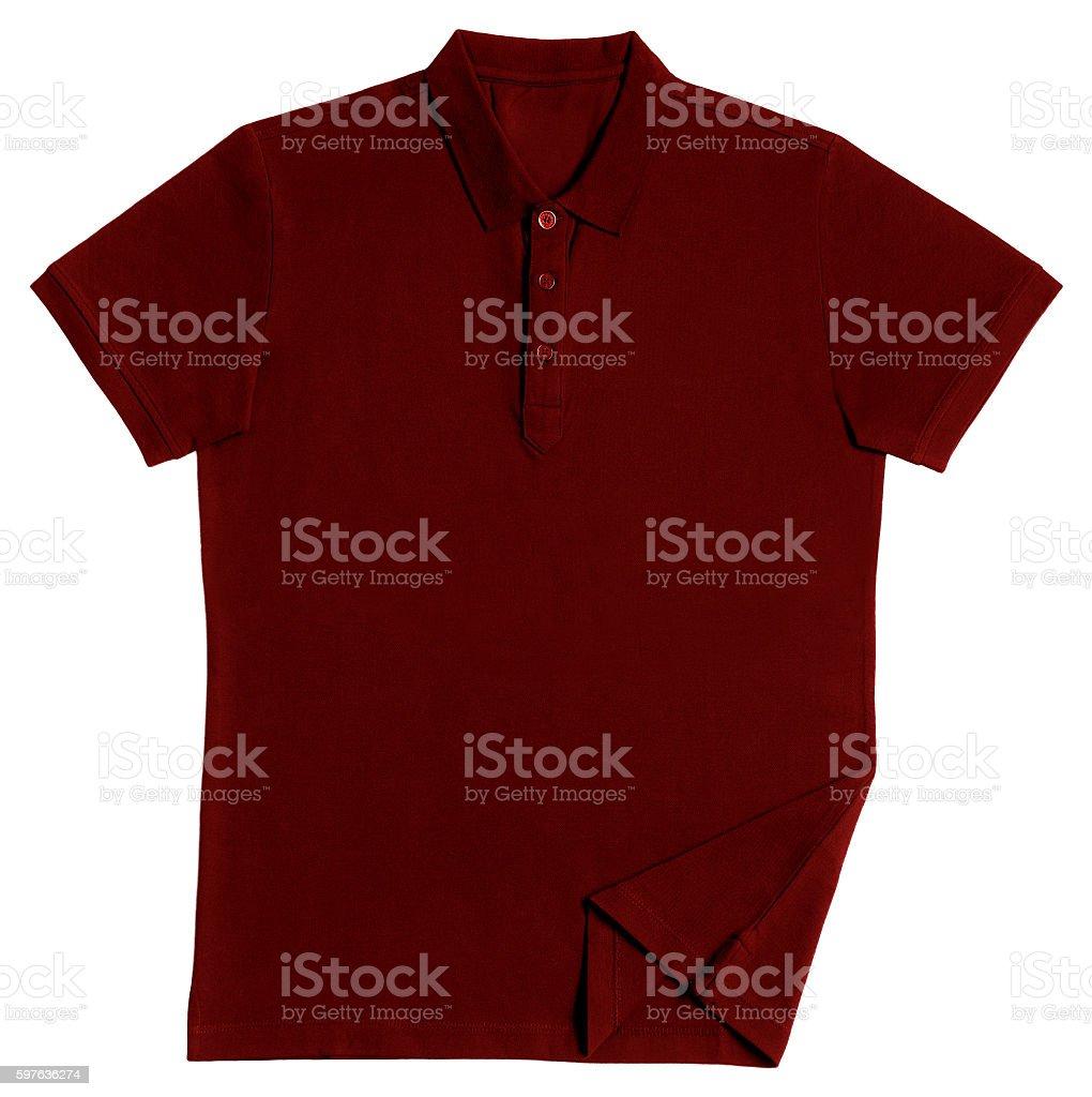 Polo shirt isolated on white background stock photo