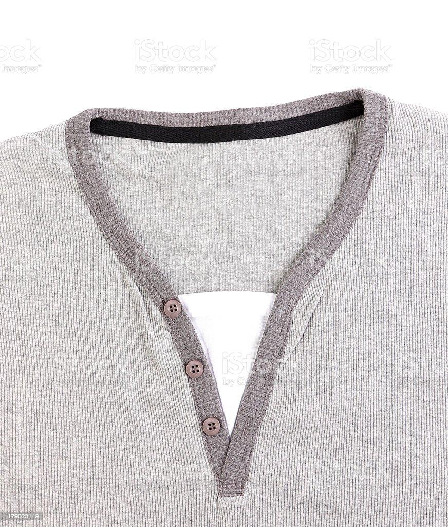 Polo Shirt no collar close-up. royalty-free stock photo