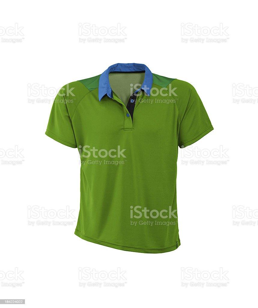 Polo shirt. On a white background. stock photo