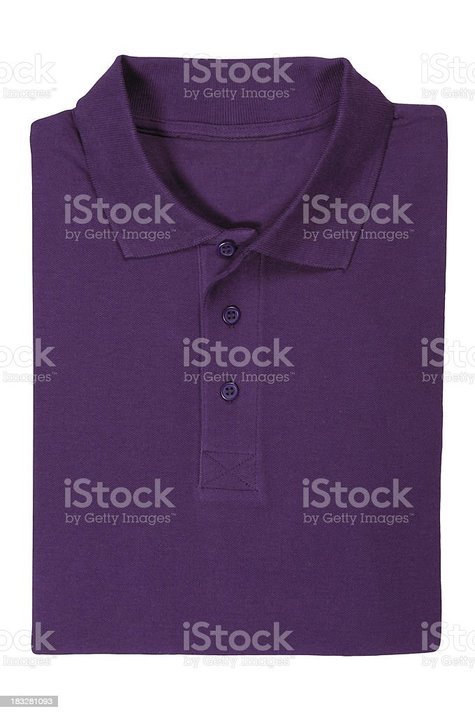 Polo shirt purple stock photo