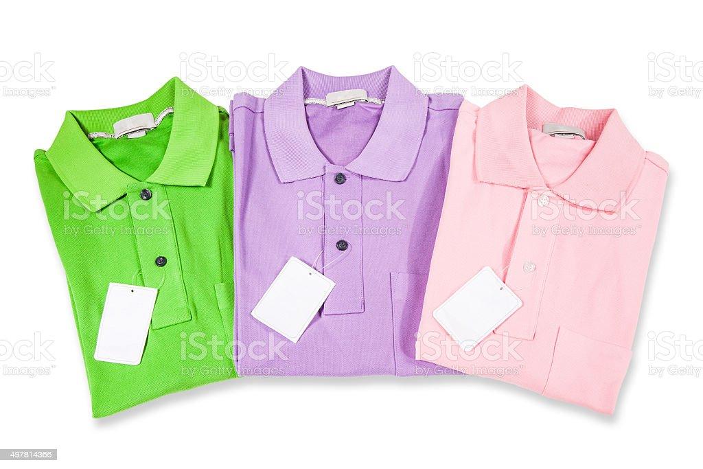 Polo Shirts isolated on white stock photo