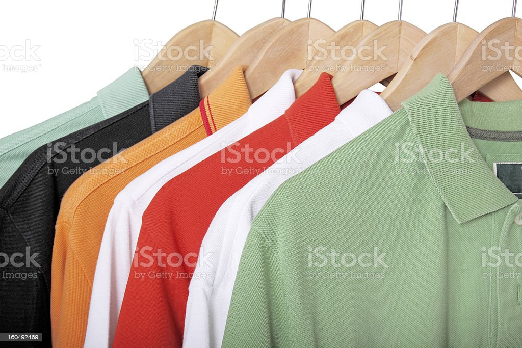 polo shirts stock photo