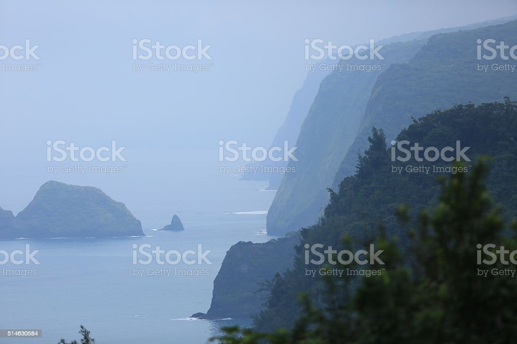 Pololu Valley Lookout stock photo