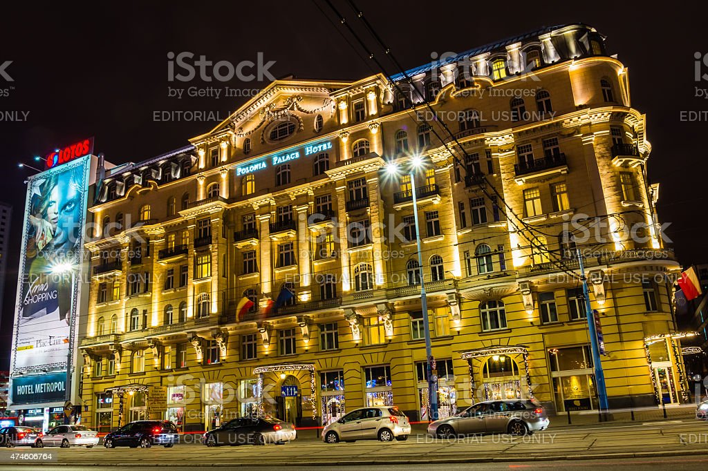 Polonia Palace Hotel stock photo