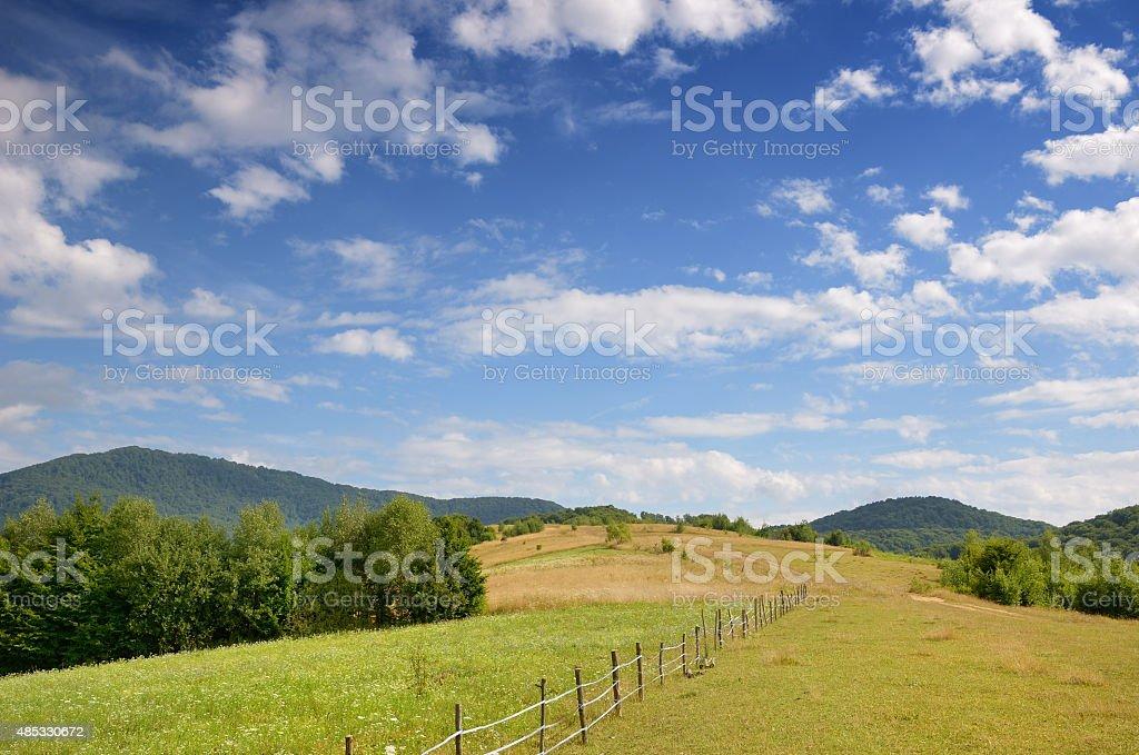Polonina in the Carpathian mountains stock photo