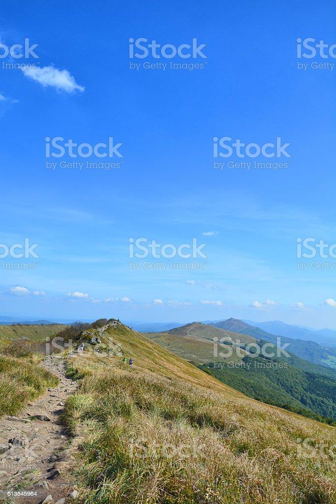 Polonina Welinska, Bieszczady National Park stock photo