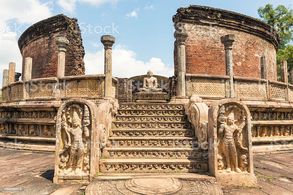 Polonnaruwa Vatadage stock photo