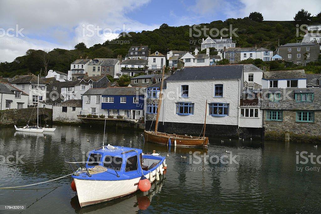 Polperro. Cornish fishing village. stock photo