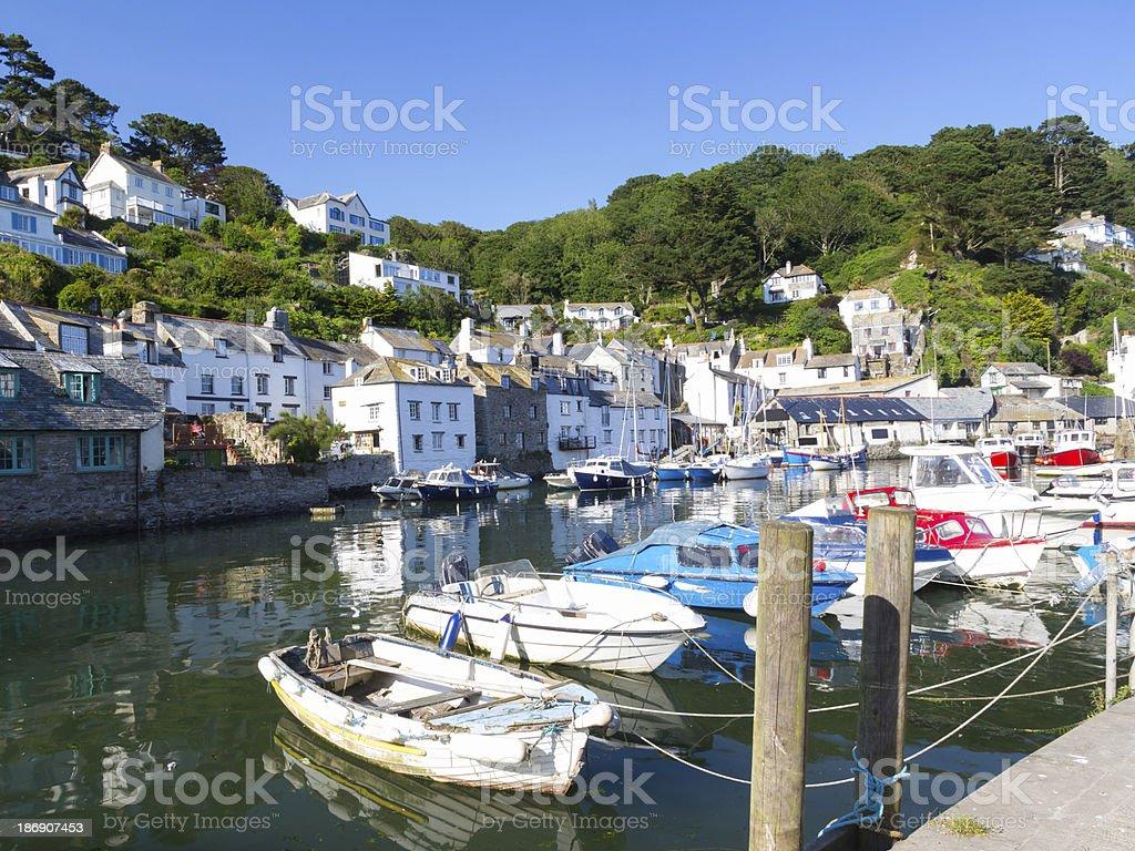 Polperro Harbour Cornwall England royalty-free stock photo