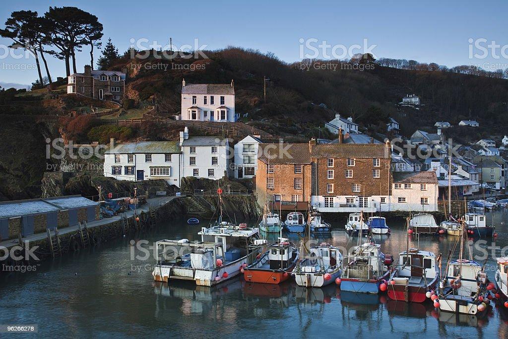 Polperro on the Cornwall coast of England stock photo