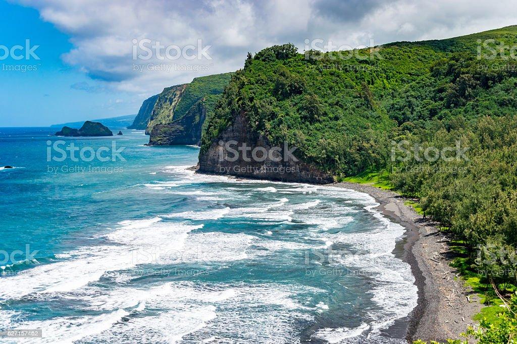 Polulu Lookout - Big Island Hawaii stock photo