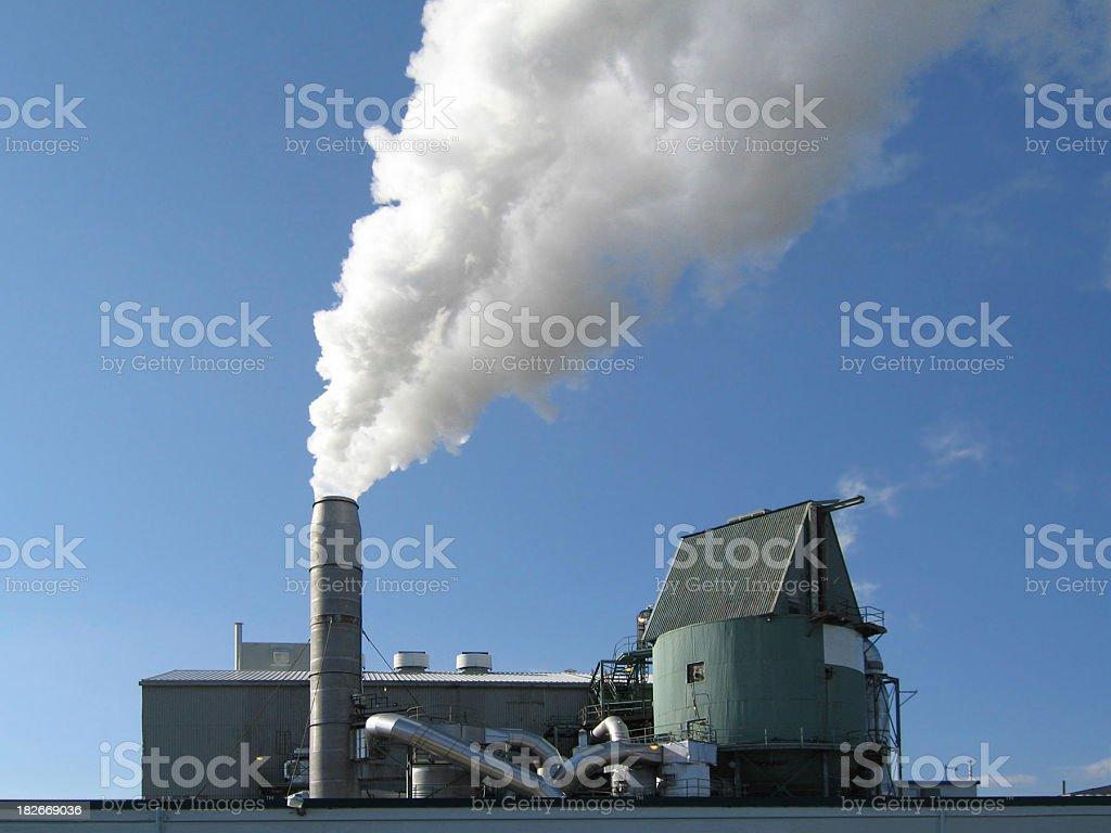 polution factory stock photo