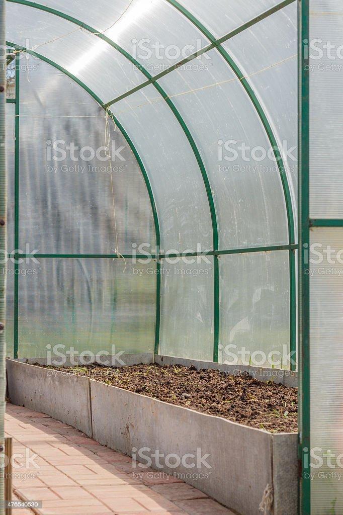 Polycarbonate greenhouse stock photo