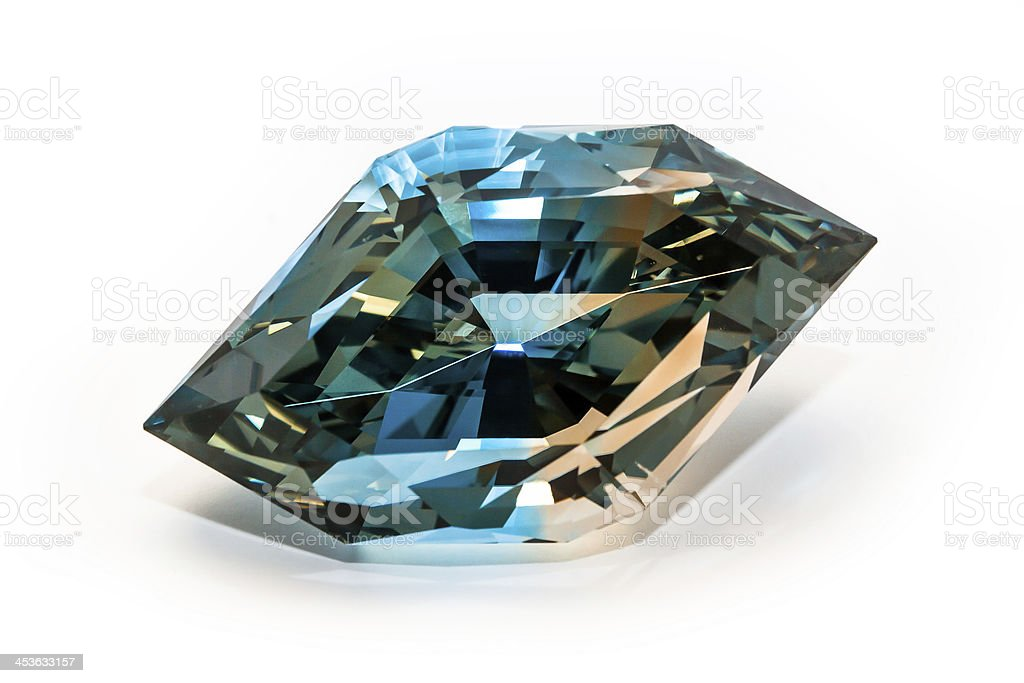Polychromatic (two-color) Topaz, more than 400 carats, Volodarsk - Volyn stock photo