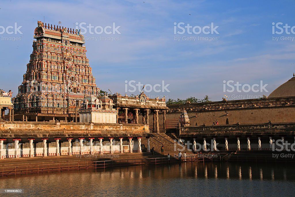 Polychrome Hindu Temple stock photo