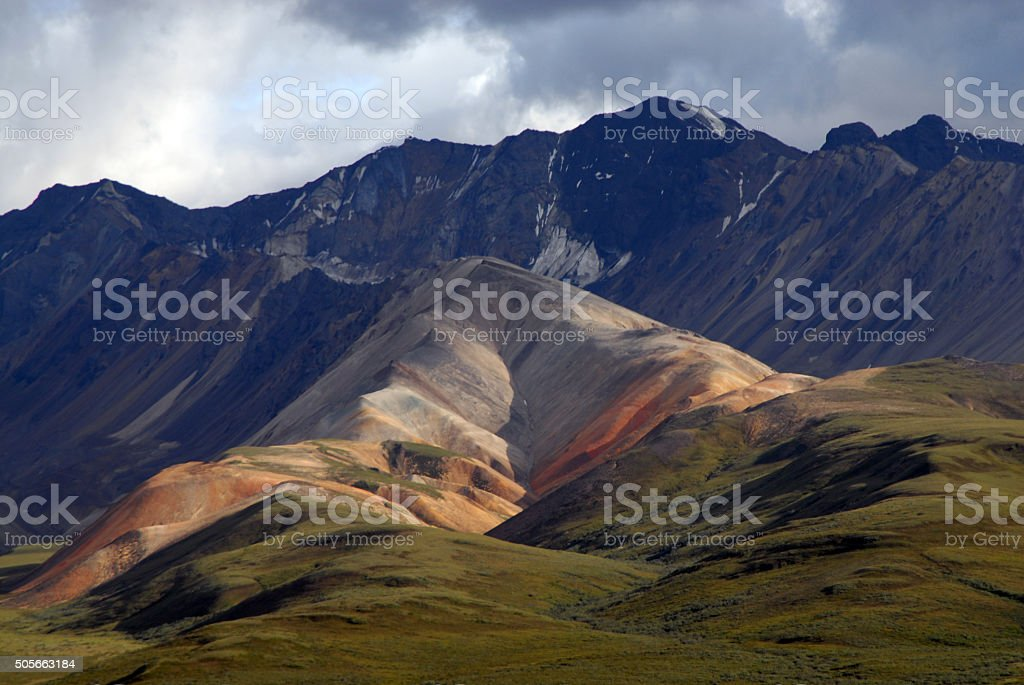 Polychrome Pass, Denali, Alaska stock photo