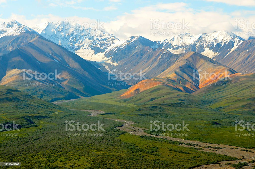 Polychrome Valley stock photo