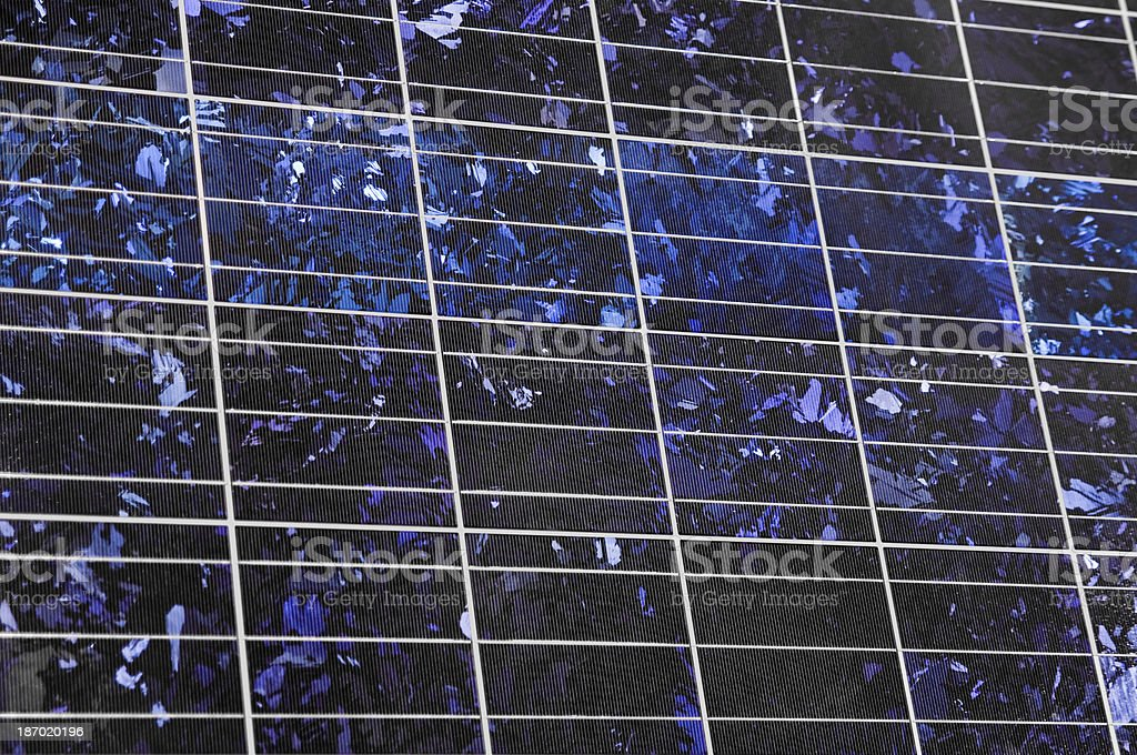 Polycrystalline solar panel stock photo