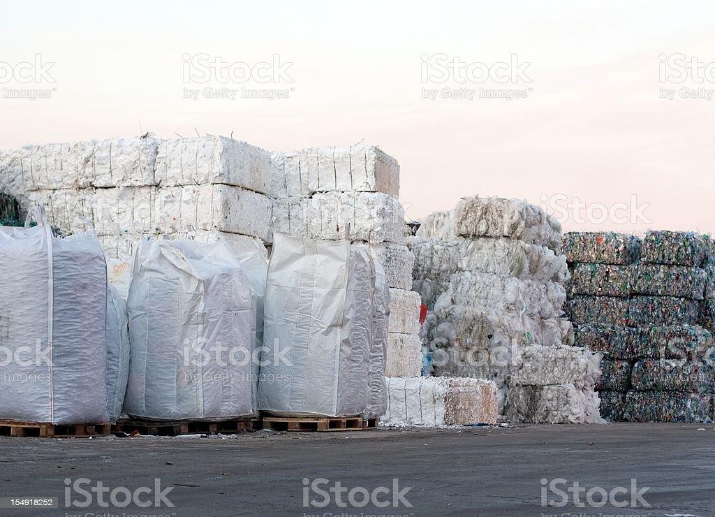 Polyethylen recycling stock photo