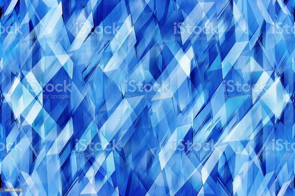 Polygonal composition resembling close-up of ice or crystal structure stock photo
