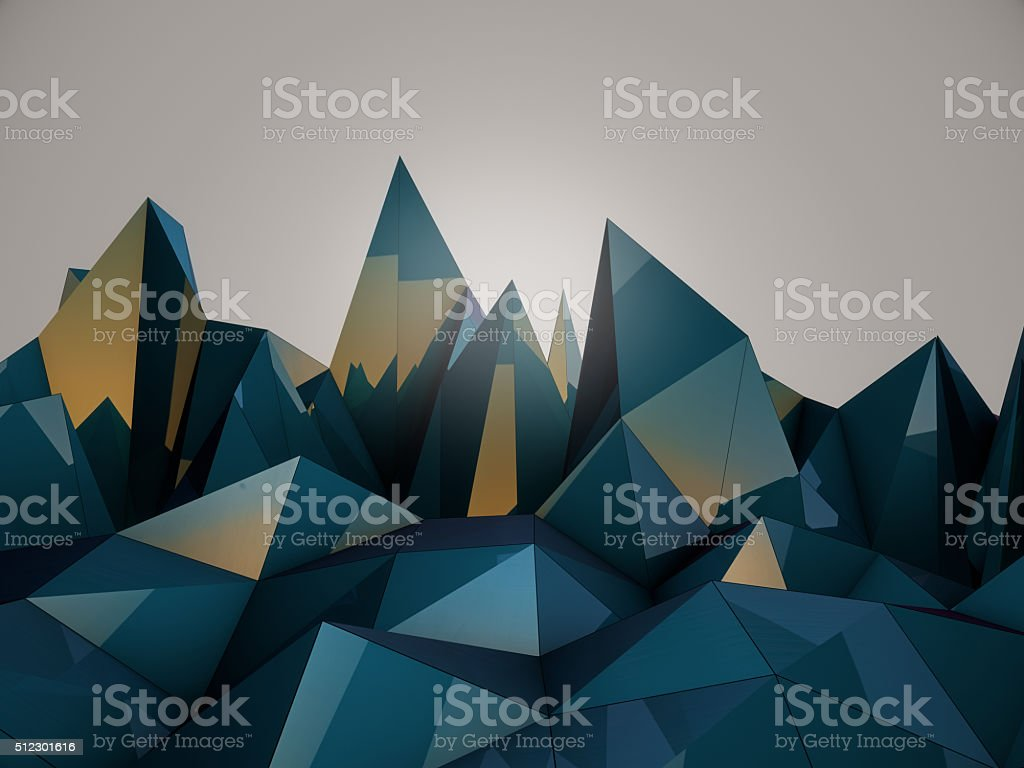 Polygonal Wave stock photo