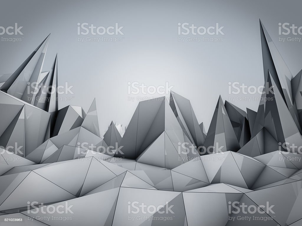 Polygonal Wave stock photo