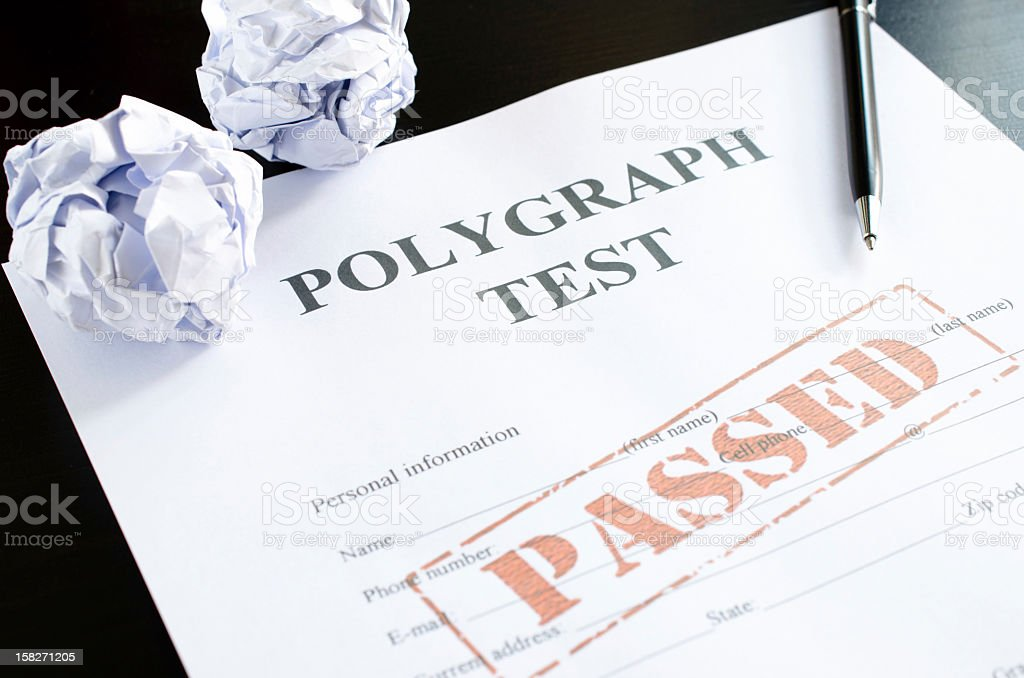 polygraph test - passed royalty-free stock photo