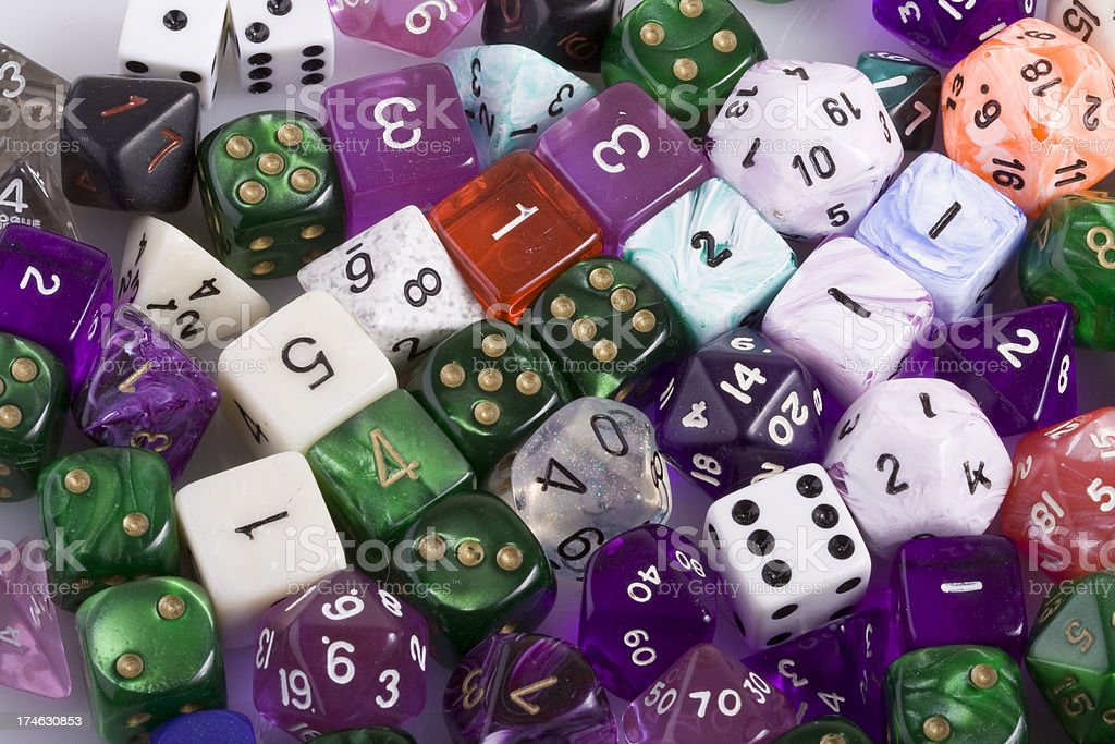 Polyhedral Dice stock photo