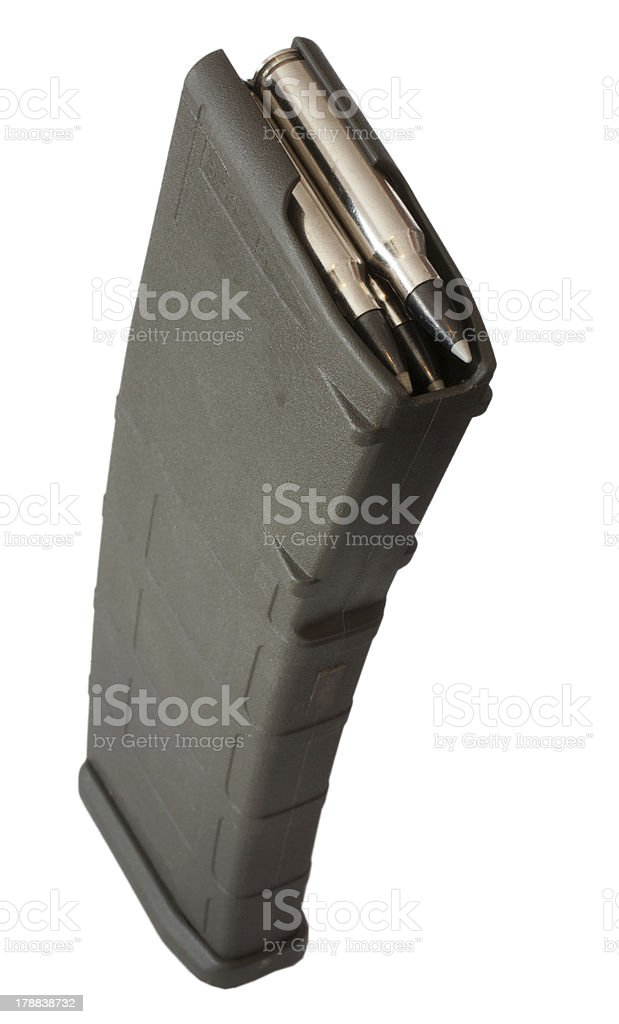 Polymer assault magazine stock photo