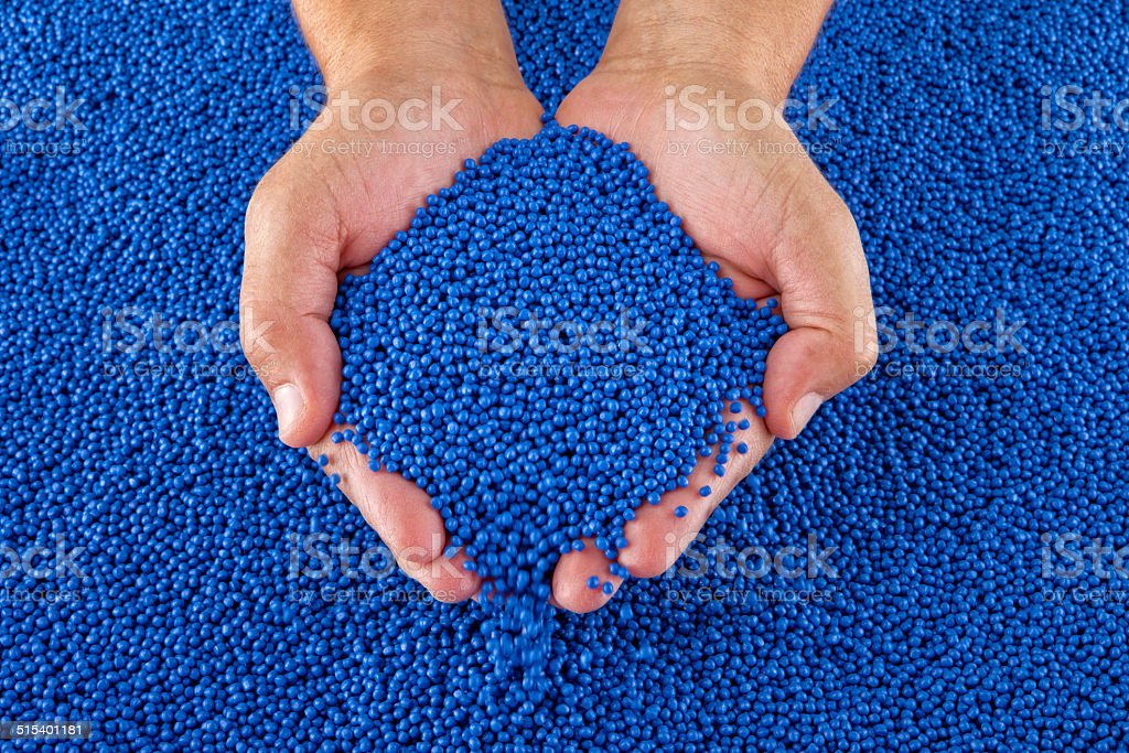 Polymer Pellets stock photo