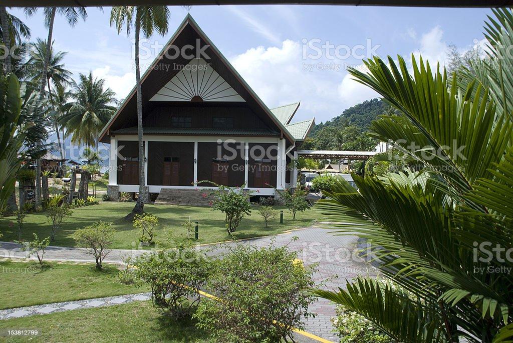 polynesian architecture royalty-free stock photo