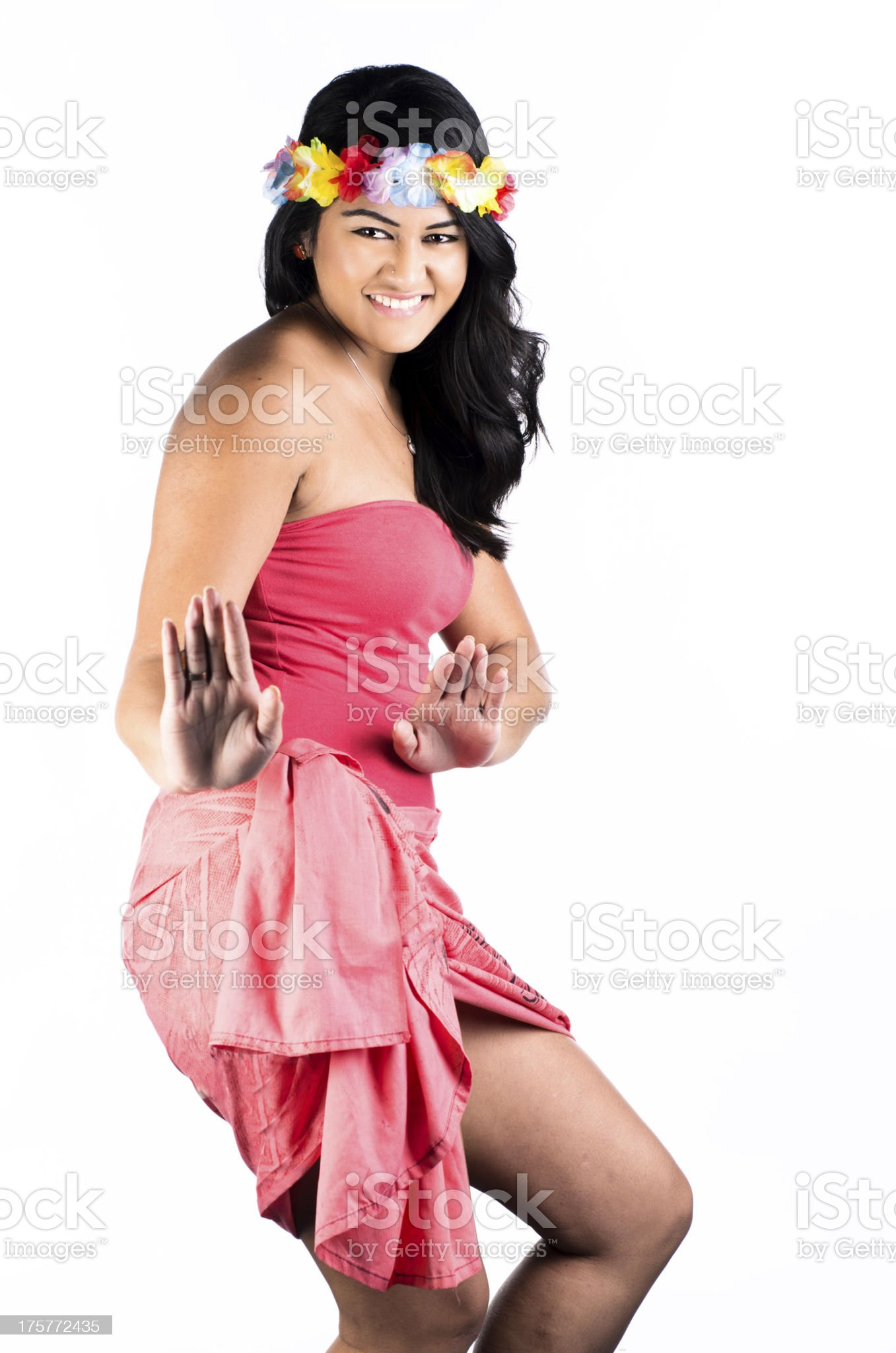 Polynesian dance royalty-free stock photo