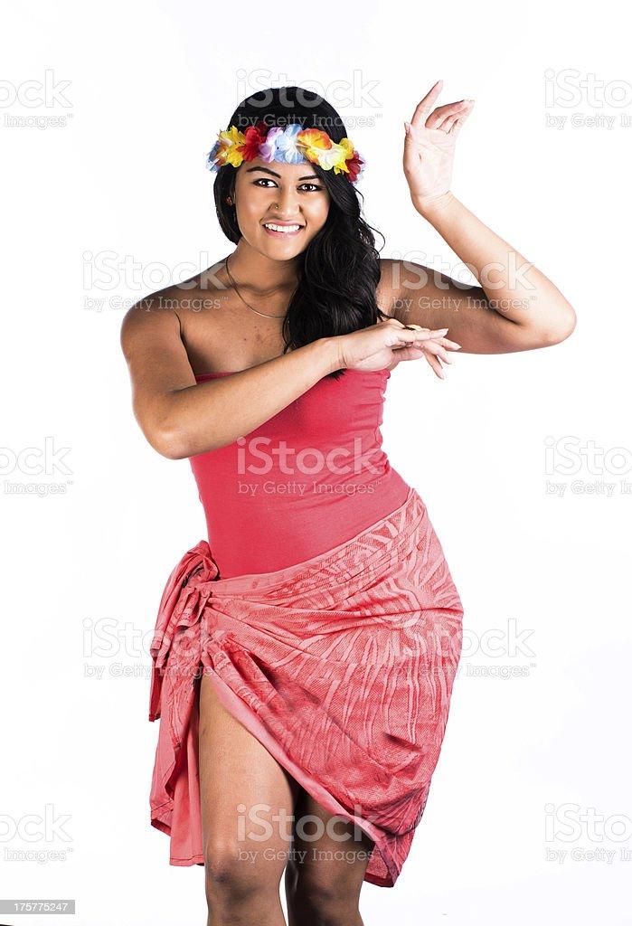 Polynesian gesture royalty-free stock photo