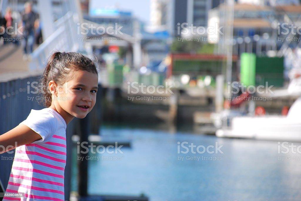 Polynesian Girl by Coastal Marina stock photo